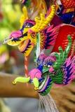 Zakończenie up smok kukły papieru mache handmade zabawka Obraz Royalty Free