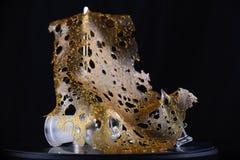 Zakończenie up szczegół marihuana oleju koncentrat aka rozbija odizolowywa obrazy royalty free