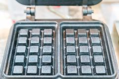 Zakończenie w górę gofr niecki kwadrata kształta robić od metalu, obsada aluminium lub żelazo lub fotografia stock