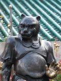 Zakończenie w górę jeden 12 zodiak statuy w Wong Tai grzechu świątyni w Hong Kong zdjęcia stock