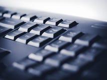 Zakończenie w górę Komputerowej klawiatury Zapina Online Biznesowego tło Fotografia Royalty Free