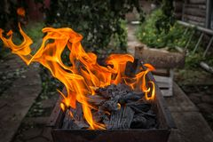 Zakończenie w mettalic grillu zdjęcia royalty free