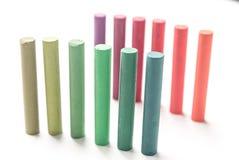 Zakończenie wiązka stoi kolorowego pastel up pisze kredą z koloru grze Zdjęcia Royalty Free