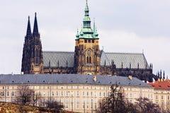 Zakończenie widok katedra St Vitus obrazy royalty free