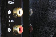 Zakończenie widok na cyfrowym kamera video na część włącznikach Wideo audio wkład Zdjęcie Royalty Free