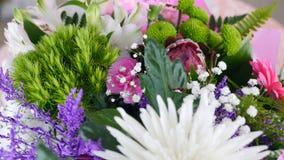 Zakończenie, widok od above, kwiaty, bukiet, obracanie, kwiecisty skład składać się z chryzantemy anastasis zbiory