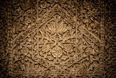 Zakończenie wizerunek antyczni drzwi z orientalnymi ornamentami, Uzbekistan obrazy royalty free