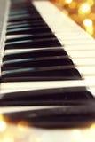 zakończenie wpisuje pianino Obraz Stock