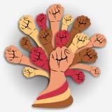 Zakończenie wręcza drzewa - jedności pojęcie Zdjęcia Stock