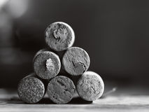 zakończenia korków dof iwy wino Zdjęcie Stock