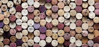 zakończenia korków panoramiczny wino Fotografia Stock