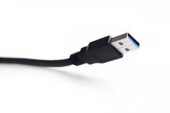 Zakończenia USB czarny kabel Obraz Royalty Free