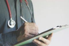 Zakończenia writing doktorski raport warunek pacjenci i dru Zdjęcie Royalty Free