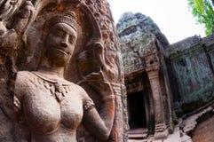 Zakończenie Apsara kamienia cyzelowanie Obraz Royalty Free