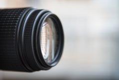 Zakończenie cyfrowej kamery obiektyw Wielki copyspace Obraz Royalty Free