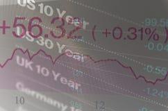Zakończenie ekran komputerowy z handlarskim estradowym okno Fotografia Stock