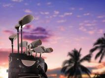 Zakończenie golfowa torba Obraz Royalty Free