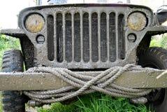 Zakończenie grille pojazd wojskowy Obrazy Stock