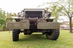 Zakończenie grille pojazd wojskowy Zdjęcie Stock