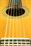 Zakończenie klasyczni gitara sznurki obrazy royalty free