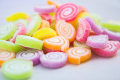 Zakończenie kolorowy cukierek Obrazy Royalty Free