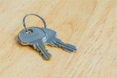 Zakończenie metalu srebny klucz Fotografia Royalty Free