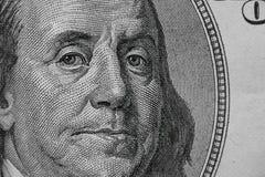 Zakończenie na Benjamin Franklin zdjęcia royalty free