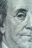 Zakończenie na Benjamin Franklin Zdjęcia Stock