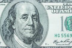 Zakończenie na Benjamin Franklin zdjęcie stock