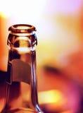 Zakończenie piwna butelka Obrazy Royalty Free