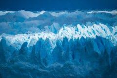 Zakończenie powierzchnia lodowiec Shevelev Fotografia Royalty Free