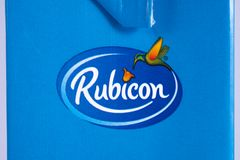 Zakończenie Rubicon logo Obraz Royalty Free