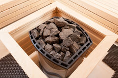 Zakończenie szarzy granitów kamienie w piekarniku Zdjęcia Royalty Free