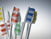 zakończenie Toothbrushes Obrazy Stock