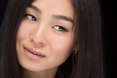 Zakończenie twarz Azjatycka dama Fotografia Royalty Free