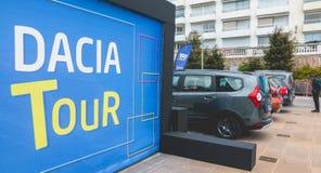 Zakończenie up na logu Dacia wycieczka turysyczna 2017 Zdjęcie Royalty Free