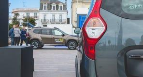 Zakończenie up na samochodach na Dacia wycieczce turysycznej 2017 Zdjęcie Royalty Free
