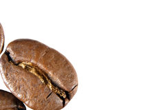 Zakończenie widok piec kawowe fasole Zdjęcia Stock