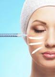 Zakończenie wizerunek kobieta na chirurgii plastycznej Fotografia Royalty Free