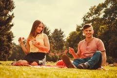 Zakochana para w parku Obraz Royalty Free