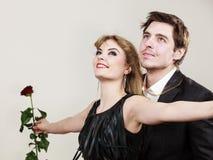 Zakochana para w tytanicznym gescie Fotografia Royalty Free