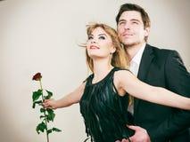 Zakochana para w tytanicznym gescie Obraz Stock