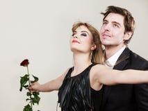 Zakochana para w tytanicznym gescie Obraz Royalty Free