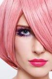 Różowa peruka Zdjęcie Royalty Free