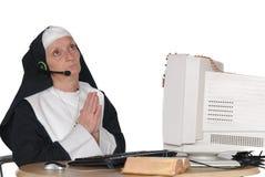 zakonnica komputerowa Zdjęcia Stock