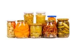 zakonserwowany ustaleni warzywa Zdjęcie Stock