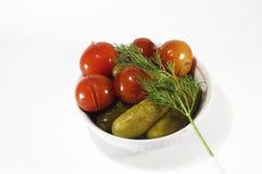 zakonserwowany warzywa Obraz Royalty Free