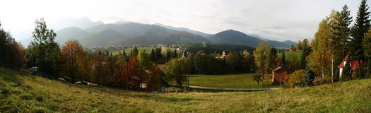 zakopane панорамы Стоковые Фото