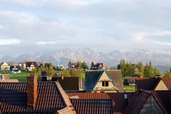 Zakopane, mountains. A beautiful landscape of polish mountains in Zakopane Stock Photo