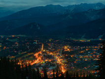 Zakopane at night Stock Photos